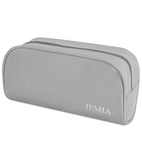 JEMIA - Grey Pencil Case with Zipper and Mesh Pockets Within The Compartment, Pen Pouches to Hold Office Supply Accessories in Organized for a Student; Girl, Boy, Men, Women, Adult