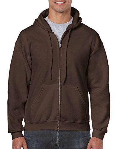 Gildan mens Heavy Blend 8 oz. 50/50 Full-Zip Hood(G186)-DARK CHOCOLATE-2XL