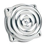 Biltwell Inc. CT-RIP-AL-PS Ripple CV Carb Top Cover - Polished Aluminum