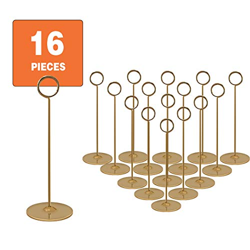 Cheap Wedding Table Number Holders (Urban Deco Place Card Holder Table Number Holder Wedding Card Holder 8 inch Set of 16 for Restaurants Weddings Banquets (8
