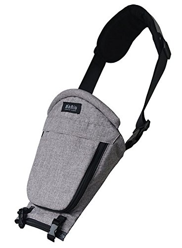 Miamily Hipster Single Shoulder Accessory only Swiss Brand - Approved by Global Wide Safety Standards - 3 additional ways to carry baby - Fits all Sizes - Ergonomic Design (Stone Grey)