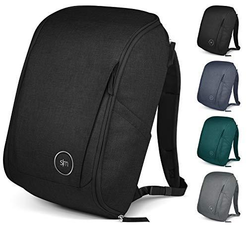 Simple Modern Wanderer Backpack with Laptop Sleeve – 25L Travel Bag for Men & Women College Work School – Wanderer: Midnight Black