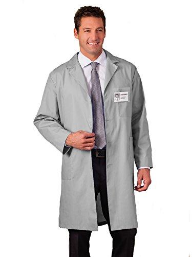 Meta 6116 Unisex Labcoat Silver M (Poplin Lab Coat)