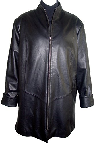Paccilo Women 5001 PETITE & ALL SIZELamb Leather A line Coat