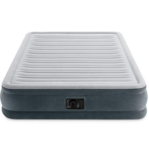 Intex Comfort Plush Mid Rise Dura-Beam Airbed with Built-in Electric Pump, Bed Height 13', Queen