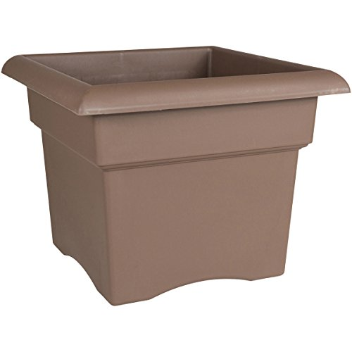 Chocolate Flower Pots - Bloem 57314CH Veranda Deck Box Planter, 14