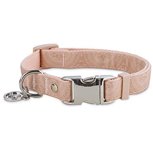Medium Medallion (Serenity Pink Medallion Adjustable Dog Collar, Medium)