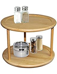 home basics 2 tier bamboo lazy susan