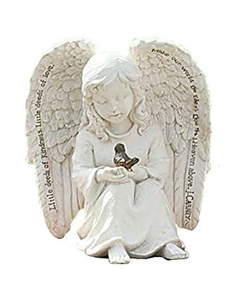 Roman Garden Angel Cherub Bird Statue Little Deeds of Kindness Love