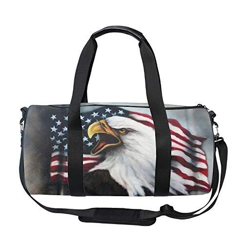American Bald Eagle Tattoos Gym Duffle Bag Drum tote Fitness Shoulder Handbag Messenger Bags