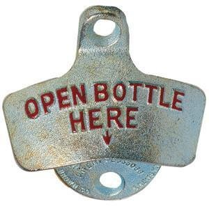 (Spill-Stop Old Fashioned Wall Mount Bottle Opener)