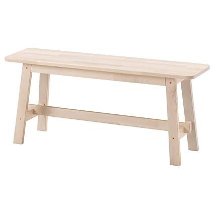 Surprising Amazon Com Ikea Norraker Bench White Birch 1826 231711 Bralicious Painted Fabric Chair Ideas Braliciousco