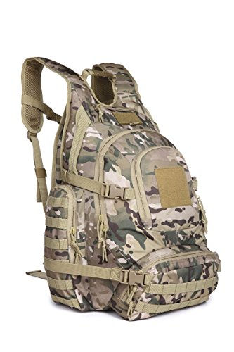 Urban Go Pack Sport Outdoor Military Rucksacks Tactical Molle Backpack Camping Hiking Trekking Bag 40L 09246 (Multicam)