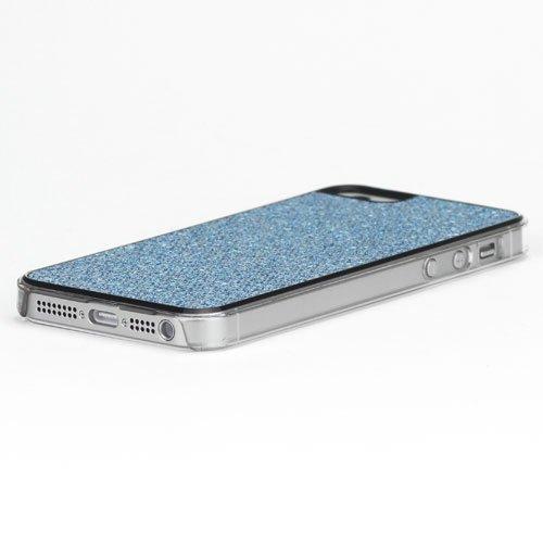iProtect Schutzhülle iPhone 5 / 5S Case glitzernde Pailletten blau