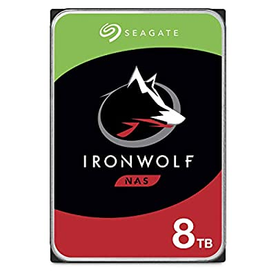 Seagate IronWolf 1TB NAS Internal Hard Drive HDD - 3.5 Inch SATA 6Gb/s 5900 RPM 64MB Cache for RAID Network Attached Storage - Frustration Free Packaging (ST1000VN002) from SEAGATE