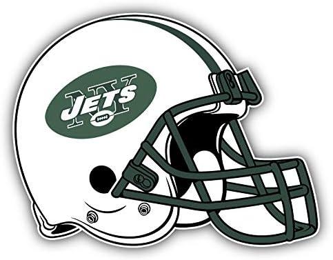 Jets Football New York Helmet Logo Decal 5 X 4