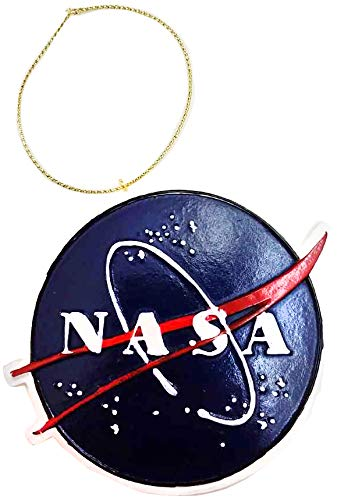 (CityDreamShop NASA Space Meatball Poly Resin Hand Painted Christmas Ornament)