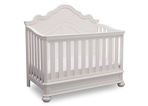 Simmons Kids Peyton 6-Piece Nursery Furniture Set (Convertible Crib, Dresser, Chest, Changing Top, Toddler Guardrail, Full Size Conversion), Bianca White by Delta Children (Image #3)