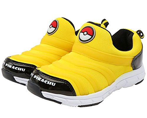 Pokémon Ball and Pikachu Boys Slip On Sneakers Yellow Shoes (Parallel Import/Generic Product) (12 M US Little Kid) (For Pokemon Shoes Boys)