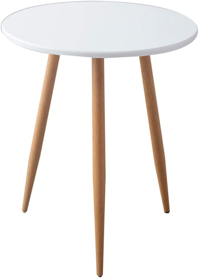 HTLLT Storage Table Imitation Wood Small Round Table Retro Non-Slip Triangle Table Househ Coffee Shop Negotiating Table Visitor Leisure Table,B,6070Cm