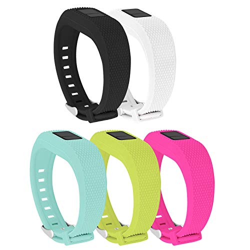 Jobese For Garmin Vivofit 3 and Vivofit Jr Bands, 3 Pack Soft Silicone Wristband with Secure Watch Clasp for Garmin Vivofit 3/ Vivofit Jr/Vivofit Jr. 2 Fitness Tracker