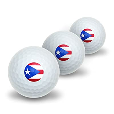Graphics and More Puerto Rico Puerto Rican Flag Novelty Golf Balls 3 Pack