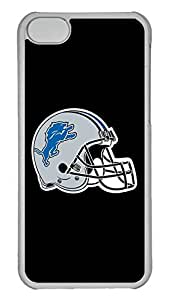 Creative GOOD 5C Case, iPhone 5C Case, Personalized Hard PC Clear Shoockproof Protective Case Cover for New Apple iPhone 5C - Nfl Detroit Lions