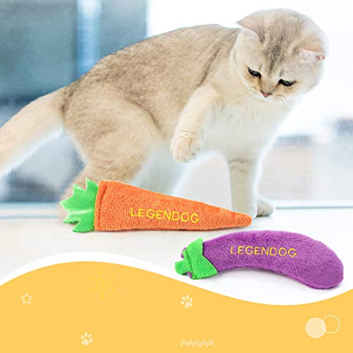 Legendog 4PCS Catnip Toys for Cats, Original 100% Catnip Filled Kitten Toys, Cute Cat Toys Set