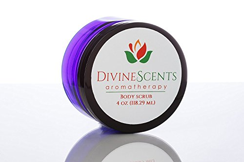 Coconut Exfoliating Body Scrub by Divine Scents Aromatherapy, Exfoliating, with Rosewood essential oil (1 pk)