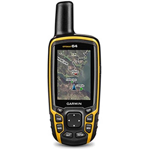 Garmin GPSMAP 64, Worldwide Handheld GPS Navigator (010-01199-00) + 32GB Memory Card + LED Brite-Nite Dome Lantern Flashlight + Carrying Case + 4X AA Batteries w/Charger
