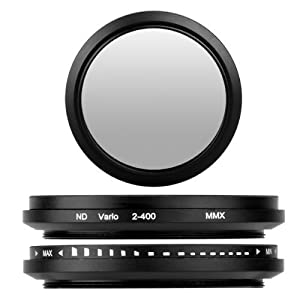 BlueBeach 43mm Adjustable ND Neutral Density fader Lens filter ND2-ND400 for Canon Nikon Sony Pentax Panasonic Fuji JVC Kodak DSLR Digital Camera from BlueBeach