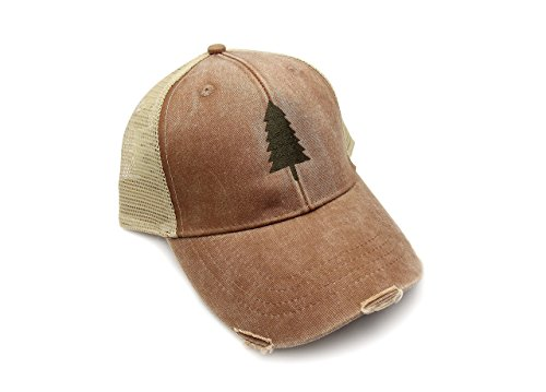 Trucker Hat - Wilderness Area - Adjustable Men's/Unisex Distressed Trucker Hat - 2 Color Options Available
