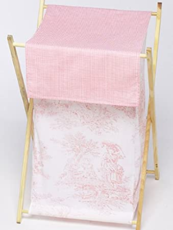 Amazon Com Sweet Jojo Designs Baby And Kids Clothes Laundry Hamper Pink French Toile Nursery Hampers