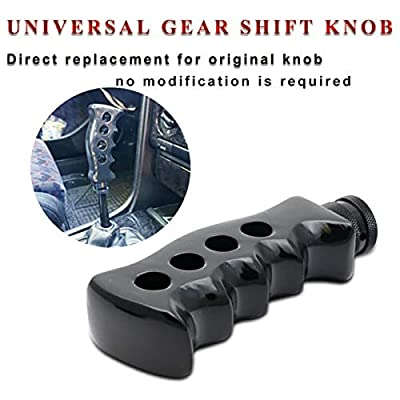Bentrance Manual Shift Knob Handle Gear Stick Shifter Head - Universal Pistol Handle Shape Automatic Car Shift Head for Car Black: Automotive