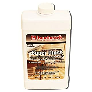 Lundmark Super Gloss Acrylic, Extra Heavy-Duty Hard Finish Floor Wax, 32-Ounce, 3202F32-6