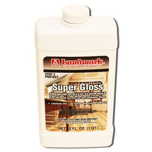 Lundmark Super Gloss Acrylic, Extra Heavy-Duty Hard Finish Floor Wax, 32-Ounce, 3202F32-6 ()