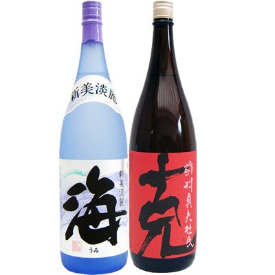 焼酎セット 克 芋 1800ml 東酒造 と 海 芋 1800ml 大海酒造 2本セット B0756NTNRN