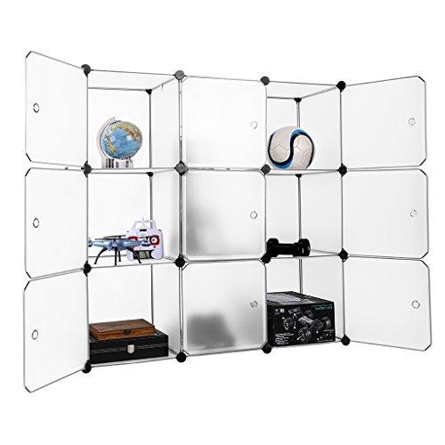 LANGRIA 3-tier Storage Cube Closet Organizer Shelf 9-cube Cabinet Bookcase