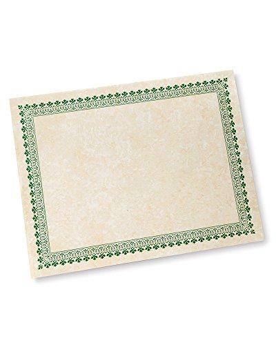 Green Border Paper Certificates - 100 CT by Gartner Studios