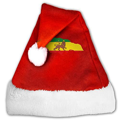 FQWEDY Rastafarian Flag Haile Selassie Flag Unisex-Adult's Santa
