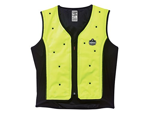 Ergodyne Chill Its 6685 Lime Dry Evaporative Cooling Vest, Large by Ergodyne (Image #4)