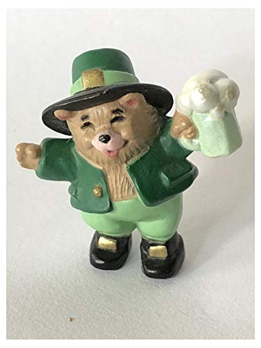 Hallmark Merry Miniatures Bear with a Mug 1989 St. Patrick's Day