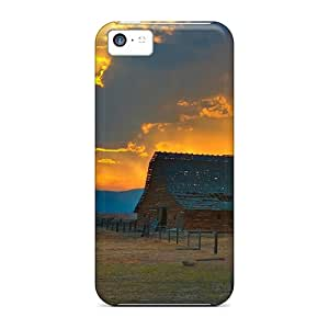Hot Tpye Glorious Sunset Over Old Barn Cases Covers For Iphone 5c