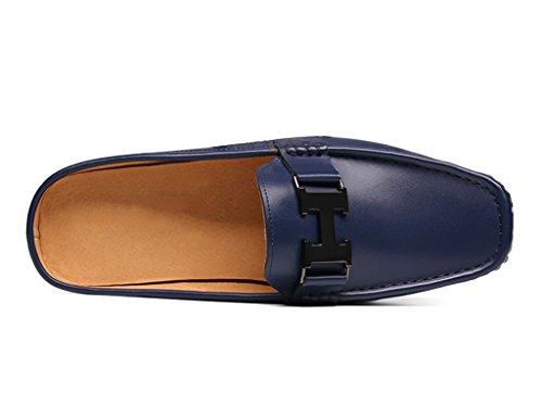 HWF Scarpe Uomo in Pelle Sandali Pantofole per uomo estate Scarpe mezza pisello Scarpe casual traspiranti (Colore : Blu, dimensioni : EU42/UK7.5) Blu