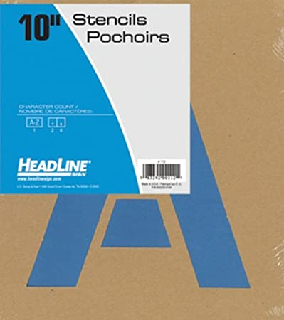 10-Inch Numbers 0-9 Headline Sign 109 Stencil Set