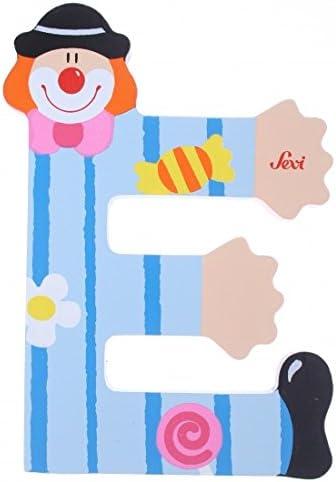 Letter E Clown blau 10cm