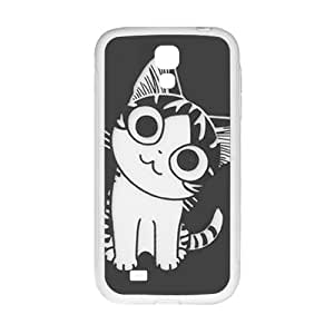 QQQO Lovely little cat Cell Phone Case for Samsung Galaxy S4