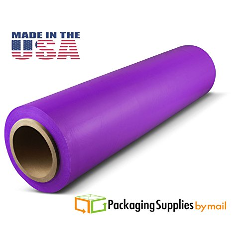 Purple Hand Wrap Plastic Stretch-Wrap by PSBM 18'' x 1500' x 80 Gauge 4 Rolls by PackagingSuppliesByMail