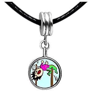 Chicforest Silver Plated Olympics Athletics funny Men's High Jump Photo Blue Aquamarine Crystal March Birthstone Flower dangle Charm Beads Fits Pandora Charm