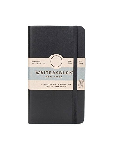 Kikkerland Writersblok Soft Cover Classic Notebook, Plain, 192 Pages, 5.6
